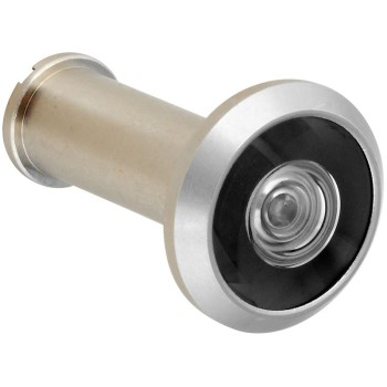 "National N330-712 Solid Brass Door Viewer, Satin Nickel Finish ~ 9/16"" Diameter"