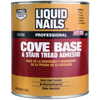 Cove Base & Stair Tread Adhesive, Tan ~ Quart
