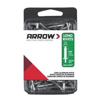 Arrow Fastener Rla1/8ip Rivets - Long Aluminum - 1/8 Inch