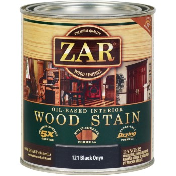 UGL 12112 Oil Based Wood Stain, Black Onyx ~ Quart