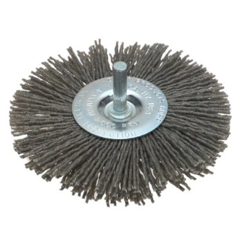 "Dico Prod  7200036 Wheel Brush, Gray ~ 4"" 80 Grit"
