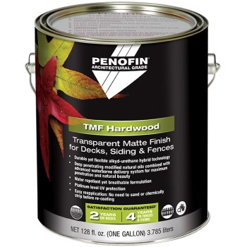 TMF Architectural Hardwood Stain for Decks/Siding/Fences, Natural Matte ~ Gallon