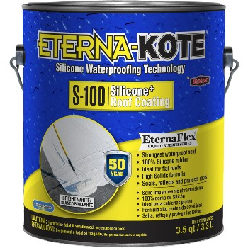 Eterna-Kote Silicone + Roof Coating, White ~ Gallon