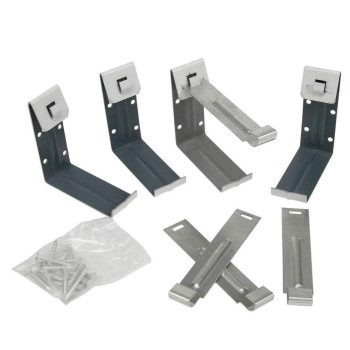 "Amerimax   25020PK Facia Brackets Aluminum  (Gutter Hangers),  White  ~  5"""
