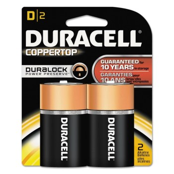 CopperTop Alkaline Batteries ~ D Cell