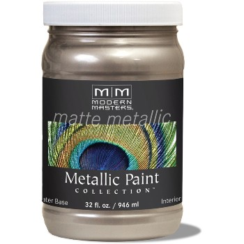 Matte Metallic Paint ~ Warm Silver, Quart