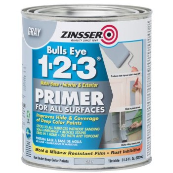 Buy The Zinsser 286258 Qt Gray Be 123 Primer Hardware World
