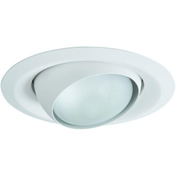 Cooper Lighting/Regent RE-6130WH Recessed Light Adjustable Eyeball Trim, White ~ 6""