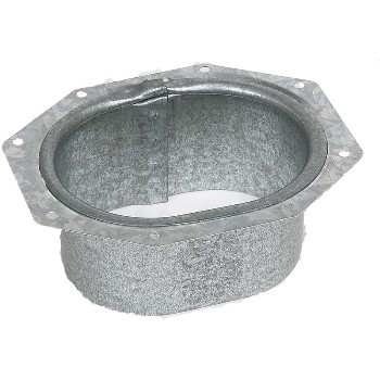 Amerimax 21051 C Wide Flange Outlet Aluminum 2 x 3