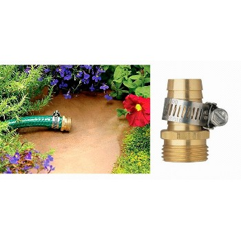 Hose Mender - Male End - Brass w/Clamp - 3/4""