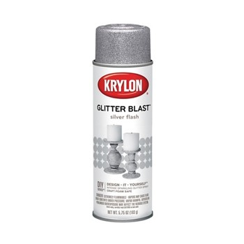 Glitter Blast Spray Paint,  Silver Flash ~ 5.7 5oz