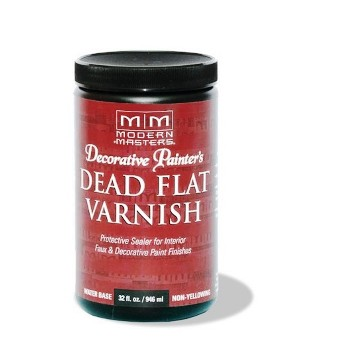 Dead Flat Water Based Varnish, Interior  ~  Quart