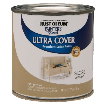 Ultra Cover Acrylic Latex, Gloss Almond  ~ Half Pint