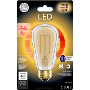 General Electric  33024 LED Vintage Style Bulb - 5/40 watt
