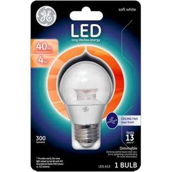 LED Ceiling Fan Bulb - 4 watt/40 watt - ~ Clear