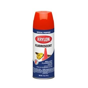 Krylon 3101 Fluorescent Spray Paint ~ Red Orange