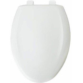 Toilet Seat, Elongated ~ White Plastic