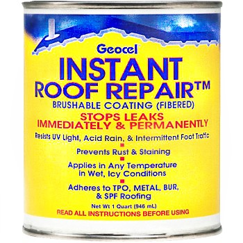 Instant Roof Repair Brushable Coating, Clear ~ Quart