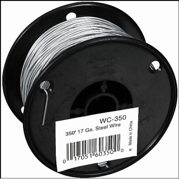 Zareba Brand Galvanized Steel Wire, 17 Gauge ~ 350 Ft