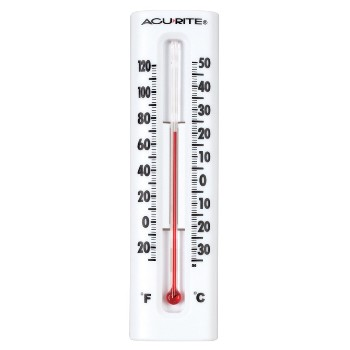 Chaney/AcuRite 00338 Thermometer ~ Wall Mount,  6.25""