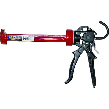 Newborn 250 Caulk Gun, Super Smooth Rod ~ 1/10 Gallon