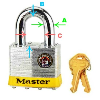 Laminated Steel Pin Tumbler Padlock ~  KA