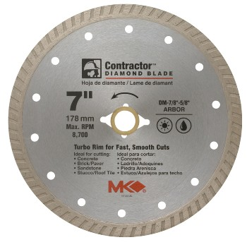 MK Diamond 167022 Diamond Saw Blade, 7""