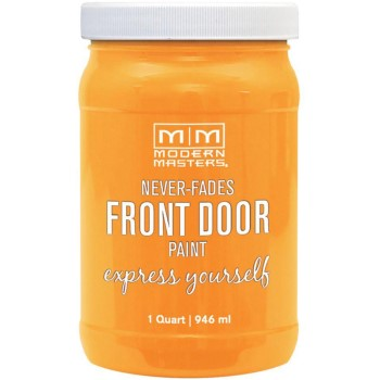 Express Yourself Front Door Satin Paint, Optimistic ~ Quart