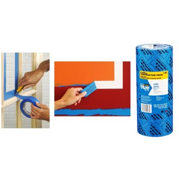 "Painter's Blue Tape, Multi-Surface Contractor Pack ~ 2"" x 60 Yds"