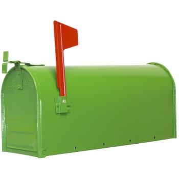 Fulton 1C-GRN Steel Mailbox, Post Mount ~ Green