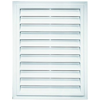 "Builders Edge 120072430001 Rectangular Gable Vent, White ~ 20"" X 30"""