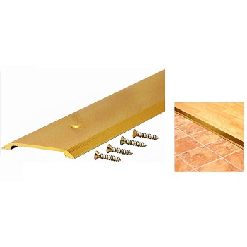"Heavy Duty Flat Top Saddle Threshold,  Brite Gold ~ 36"" L x  2-1/2"" W x 1/4"" H"