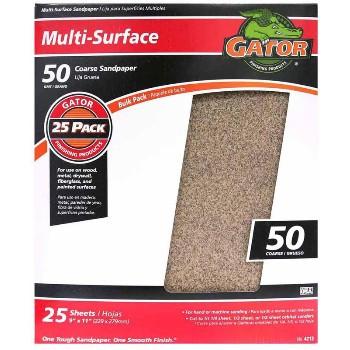 Ali Industries 4212 Sandpaper, Aluminum Oxide ~ 50 grit