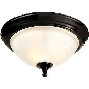 Celing Fixture, 2 Light Galveston Design ~ Black