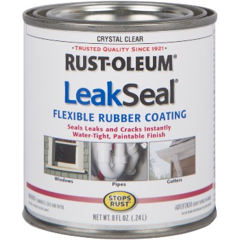 LeakSeal Flexible Rubber Coating, Opague ~ 8 oz
