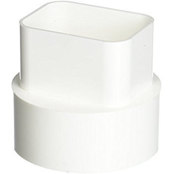 Downspout Adapter, 2 x 3 x 4 inch