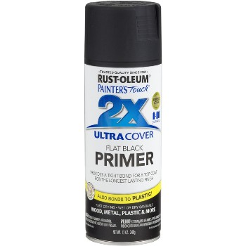 Rust-Oleum 249846 Painters Touch 2X Ultra Spray, Flat Black Primer