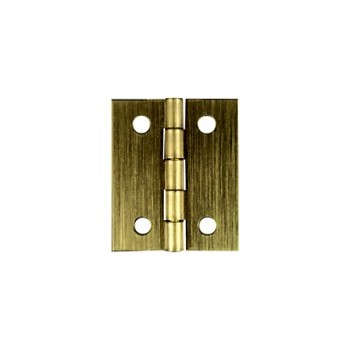 Solid Brass/Antique Brass Board Hinge, Visual Pack 1802 2 x 1 -3/8  inches