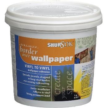 Buy the shur stik 8760 3 16 vinyl over vinyl adhesive for Wallpaper paste home hardware
