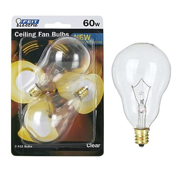 Ceiling Fan Light Bulb, Clear 120 Volt 60 Watt