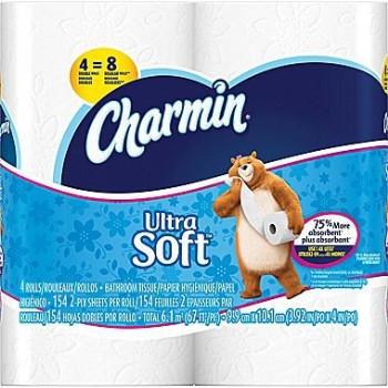 P & G 13258 4pk Ultra Soft Charmin