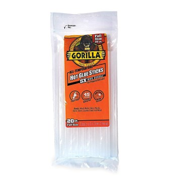Full Size Gorilla Hot Glue Sticks ~ 8""