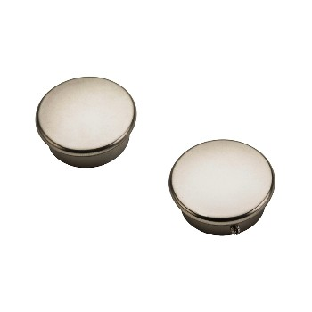Closet End Caps, Heavy Duty ~ Satin Nickel