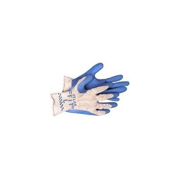 Knit Gloves - Rubber Palm - Medium