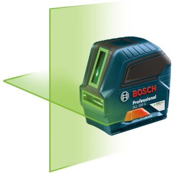 Chevron/SKIL GLL 100 G Green Beam Cross-Line Laser, Self Leveling