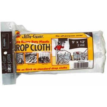 Plastic Drop cloth, 2 jc 912 9 x 12 feet 2 mil