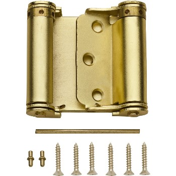 Spring Hinge, Double Acting ~ Brass Finish