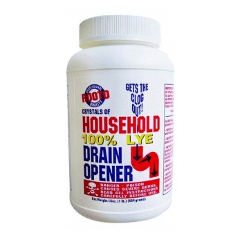 Rooto 1030 Household Drain Cleaner w/Lye  ~ 1 Lb Container