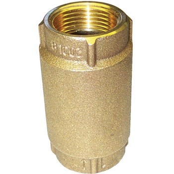 Red Brass Check Valve, Meets Lead-Free Installation ~   1/2""