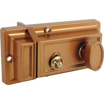 Nite Latch & Lock Cylinder ~ Brass Finish
